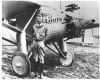 Charles Lindbergh standing alongside his Spirit of St. Louis. Courtesy of San Diego Air & Space Museum.