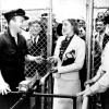 Opening Day, July 3, 1937. Track founder Bing Crosby greets Mrs. W. R. Richardson, the first patron through the gates. Courtesy of Del Mar Thoroughbred Club (DMTC).