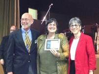 Maryellen Burns receives award SCHS 2013 Awards. Courtesy Center for Sacramento History.