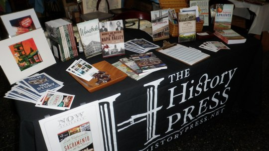 History Press table at Grow Cook Savor in Sacramento June 2013. Courtesy Aubrie Koenig.