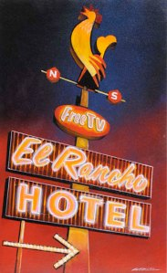 El Rancho Hotel's Condor Room featured dinner, dancing and Hollywood celebrities in its heyday. Bob Miller.